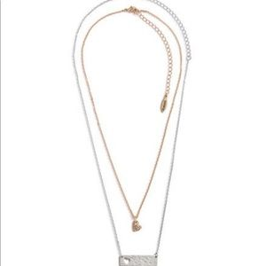 Jewelry - Mom & Daughter Heart Bar Necklace Mommy Me
